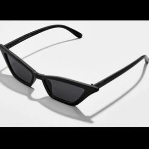 New! Baublebar Black Lily Retro Sunglasses